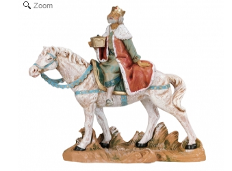 Re a cavallo per presepe cm.19